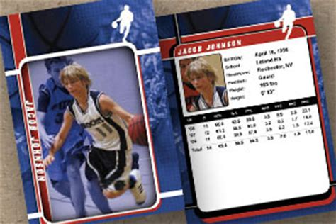 Basketball Trading Card Template Free by Sports 171 Custom Trading Cards