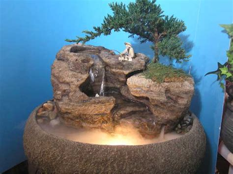 live bonsai tabletop fountain oval cd137 natural creations