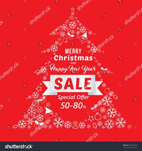 new year sales song new year sale banner template stock vector