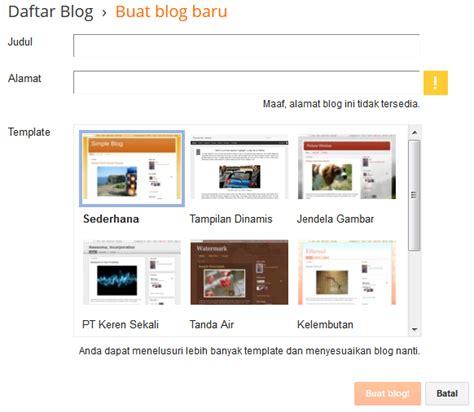 membuat blog gratis dan mudah cara membuat blog gratis dan mudah