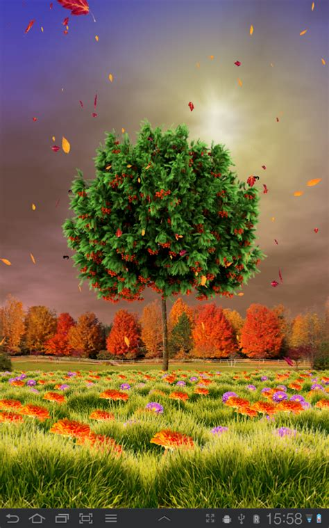 Fall Live Wallpaper Android by Autumn Trees Live Wallpaper Android Apps On Play