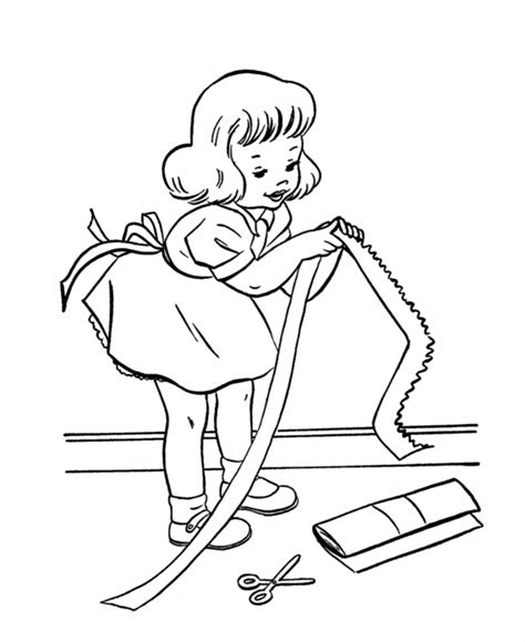 birthday presents coloring pages