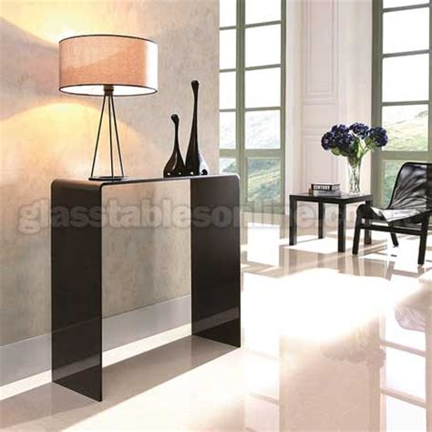 Small Glass Console Table Black Glass Console Table Small By Glass Tables
