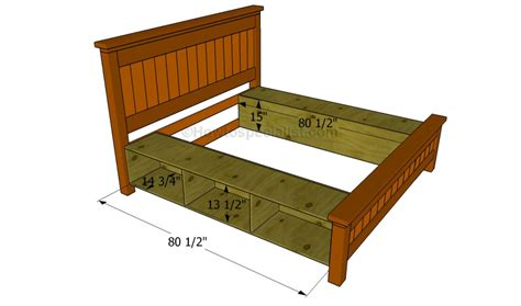 How To Build A Bed Frame With Drawers Howtospecialist How To Build A Bed Frame