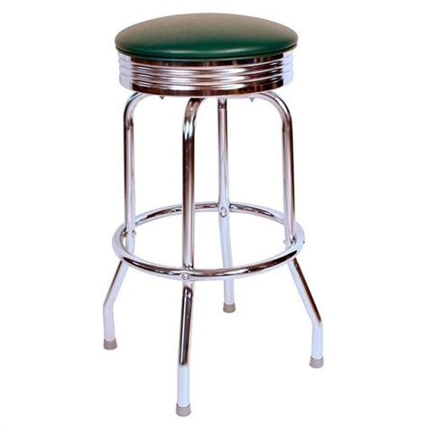 Retro Stools Richardson Seating Retro 1950s Chrome Swivel Bar Stool In