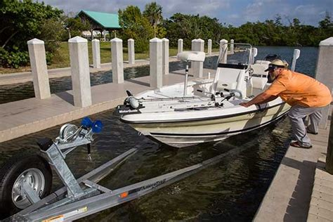 securing pontoon boat to trailer how to load your boat on the trailer trailering boatus