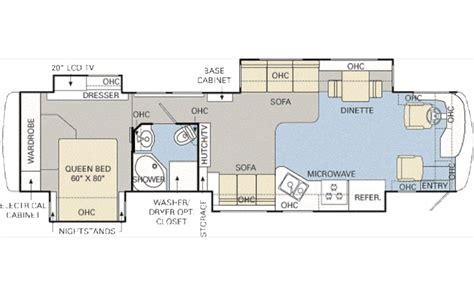 monaco rv floor plans 2007 monaco diplomat skq photos details brochure floorplan