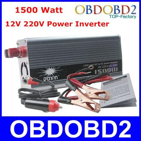 Dd001 Power Inverter 1500 W Dc 12v Ke Ac 220v Merk Sh Berkualitas best quality 1500 watt doxin power inverter 1500w 12v to ac 220v car battery charger supply