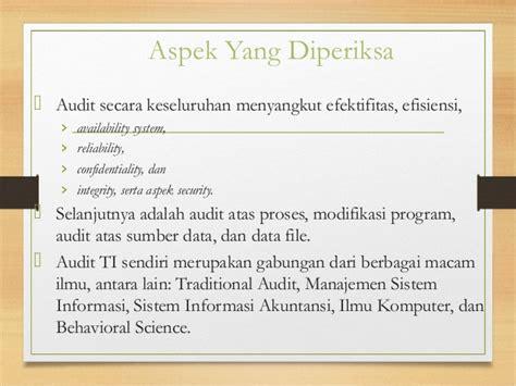 Buku Audit Sistem Informasi Lima Aspek Audit Sistem Informasi kontrol dan audit sistem informasi