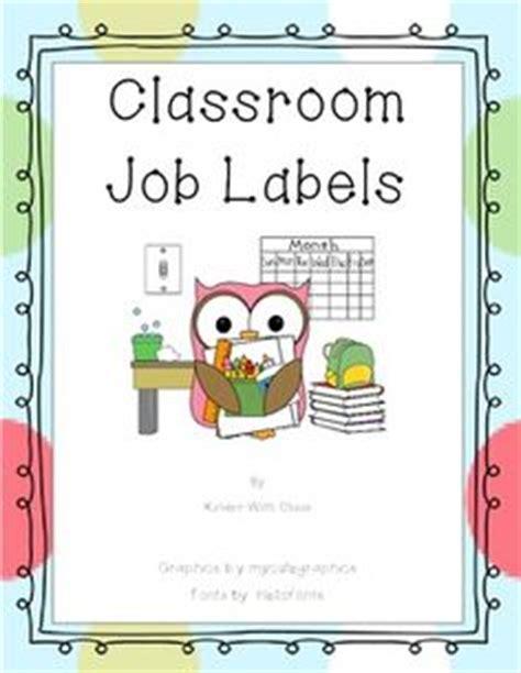 printable job labels owl job chart printable free upper elementary classroom