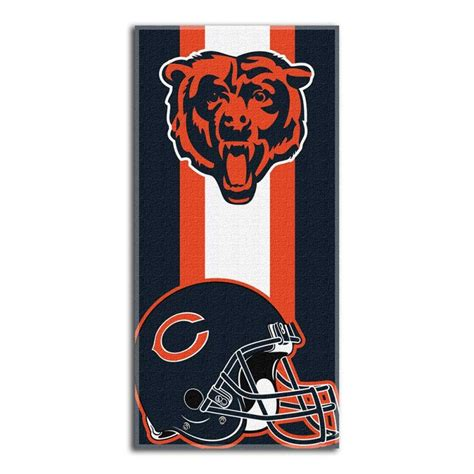 chicago bears nfl quot zone read quot beach towel chicago bears