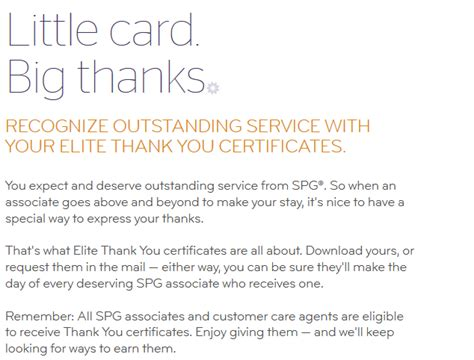Thank You Letter For Hotel Guest starwood preferred guest spg quot elite thank you