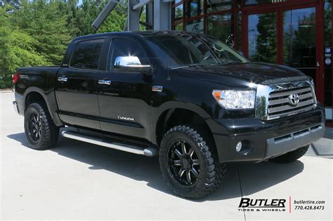 Toyota Tundra Black Rims Toyota Tundra With 20in Black Rhino Wheels
