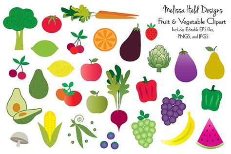 fruits and vegetables clipart fruits and vegetables clipart illustrations creative