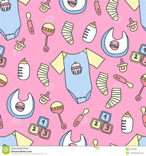pattern drawing illustrator baby stuff pattern stock illustration image of children
