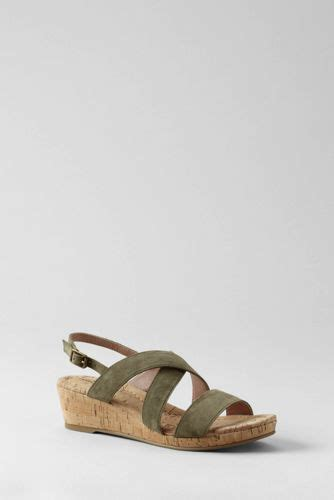 lands end s sandals footwear lands end s regular perri cork wedge