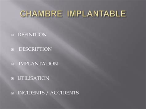 ppt chambre implantable powerpoint presentation id 952191