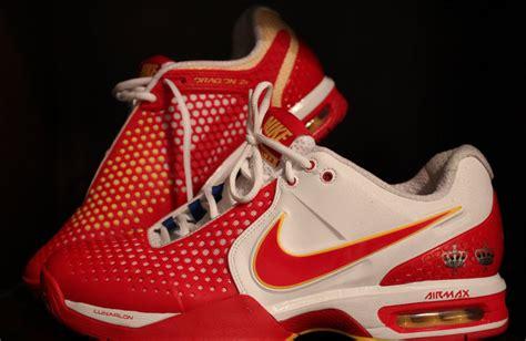 a pair of rafael nadal used nike tennis shoes 2011