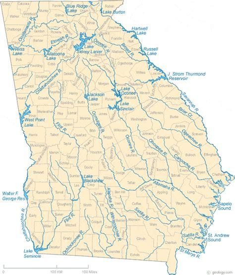 ga map map of