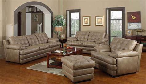 beige leather sofa set dark beige bonded leather modern sofa loveseat set w options
