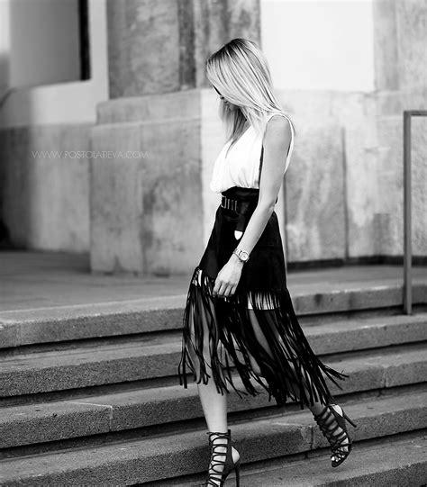 p mathis leather fringe skirt zara sandals