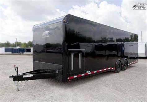B C Awnings 28 Enclosed Car Hauler With Black Gloss Exterior