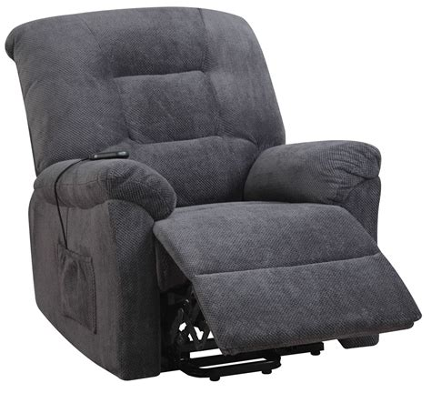 charcoal power lift recliner from coaster 600398