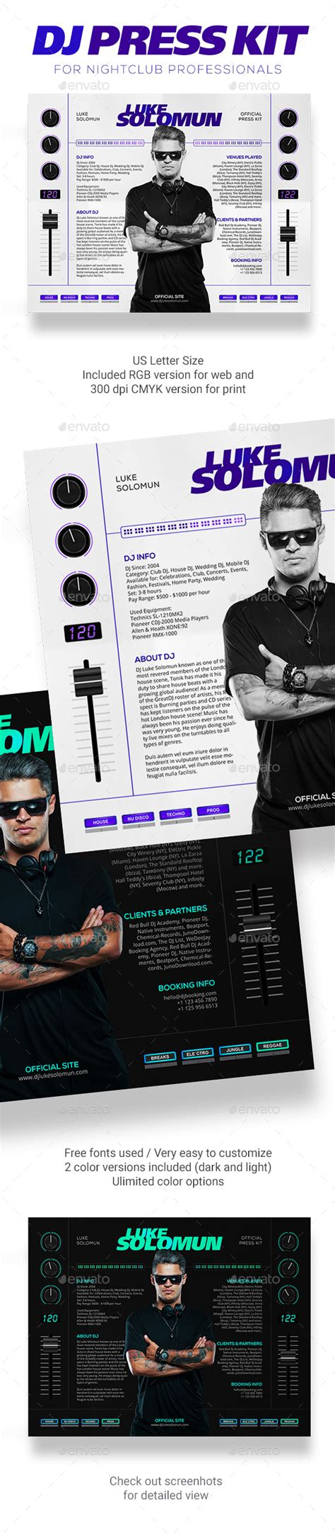 dj rider template madjestik dj press kit dj resume dj rider psd