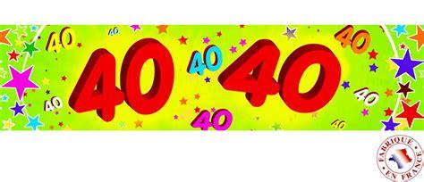 Banderole Papier 40 Ans 0 16x2 44m D 233 Coration