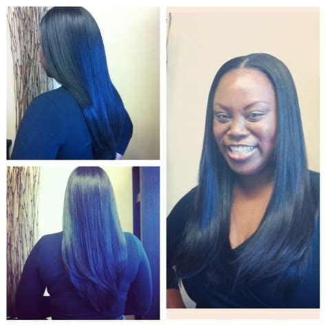 center part weave hairstyles full sew in weave with center part minimal hair was left