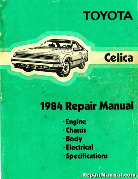 car maintenance manuals 1984 toyota celica electronic toll collection 1984 toyota celica repair service manual