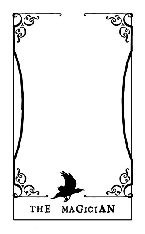 blank tarot card template tarot card template by contntlbreakfst on deviantart