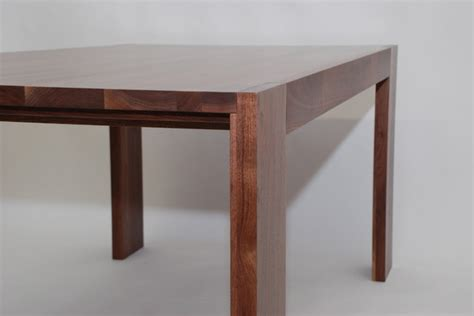 parsons dining table walnut modern dining tables