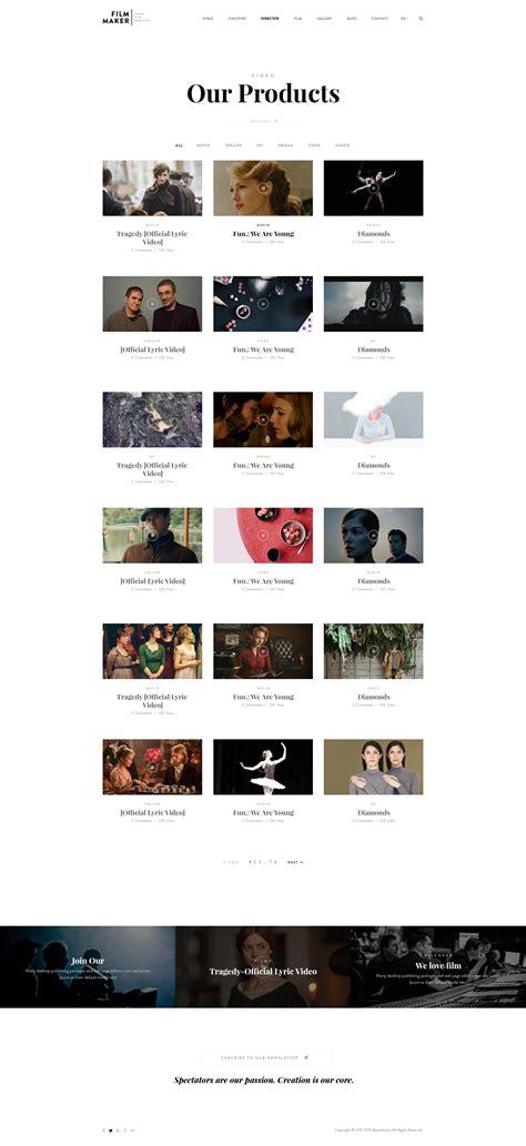 themes in film making filmmaker wordpress theme film studio movie production