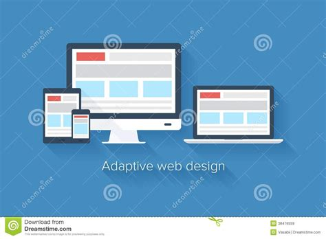 adaptive layout video adaptive web design for various devices colorful vector