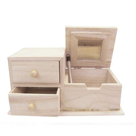 specchio con cassetti scatola portagioielli con specchio con 2 cassetti