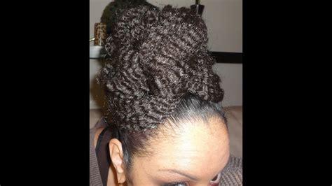 natural hair hairstyle   marley faux bun updo
