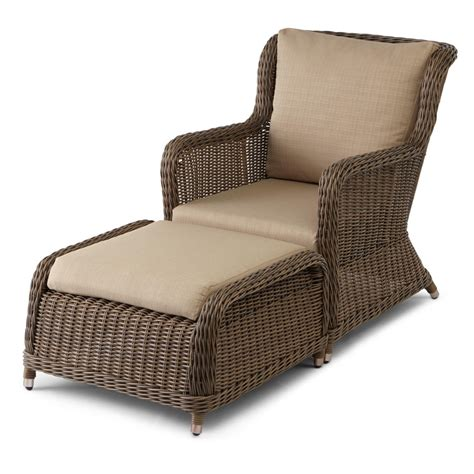 Chairs Ottomans Wicker Outdoor Chair And Ottoman Chairs Seating