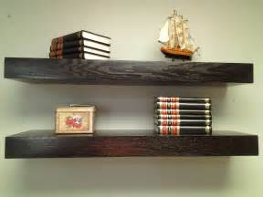 floating wall bookshelves floating shelves oak wood espresso color free by mrselecta