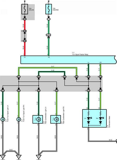 wiring diagram turn signal flasher 7 wire turn signal