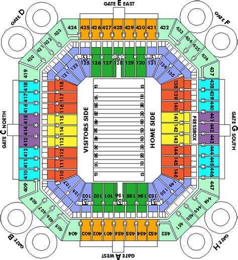 dolphin stadium seating chart 3d sun stadium map my