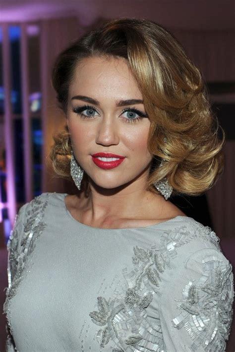 miley cyrus medium curly hairstyles 2012 elegant