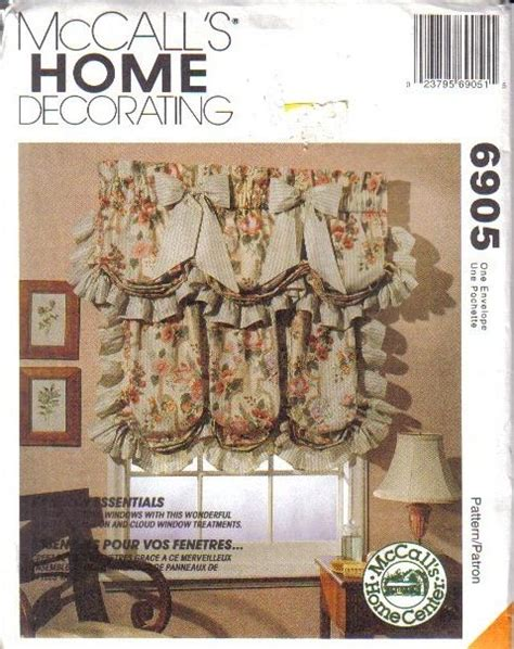 sewing patterns for home decor oop mccall s sewing pattern home d 233 cor window treatment