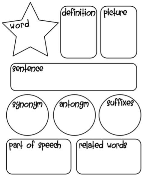vocabulary graphic organizer ladybug s teacher files