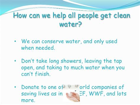 the right to clean water power point by sang