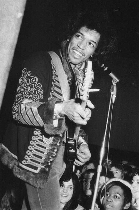 Jimi Hendrix mid-set at his Roundhouse gig with his band