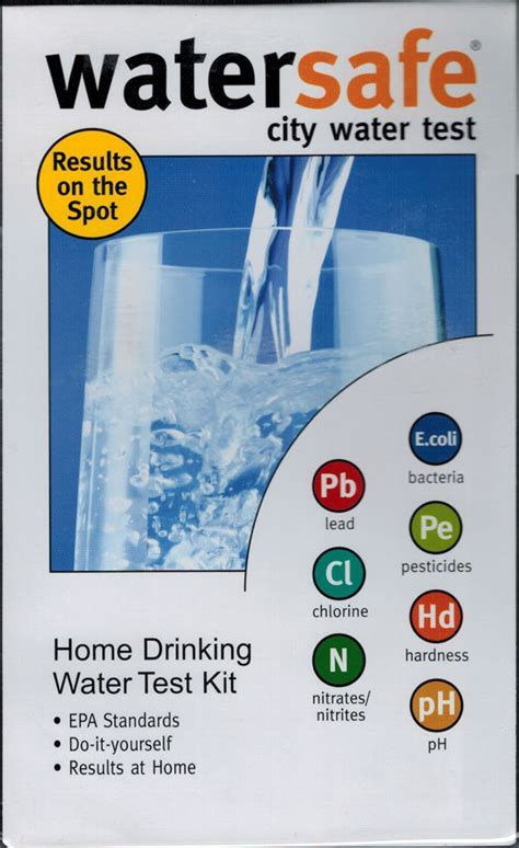 Watersafe City Water Test Kit for 8 Drinking Water