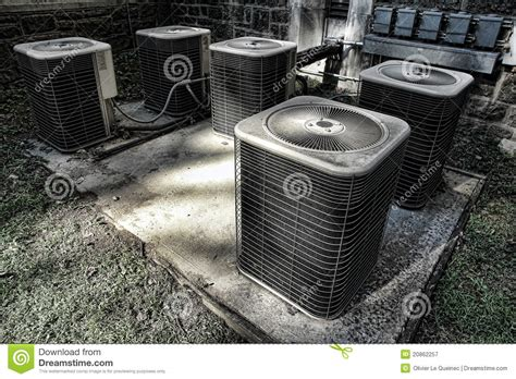 air conditioner condenser cooling condenser units stock image image 20862257