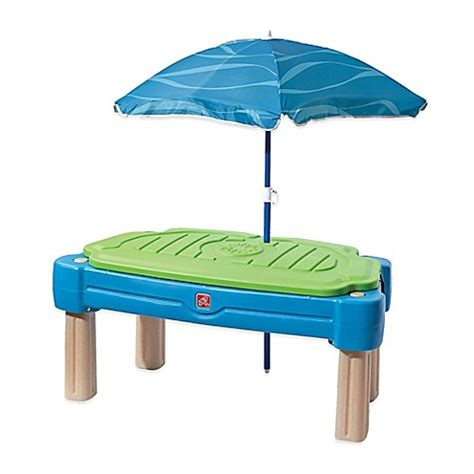 step2 cascading cove sand and water table step2 174 cascading cove water table with umbrella bed bath