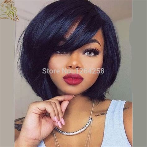 spiked human hair wigs for black woman short spike wigs for black women 8a 180density short human